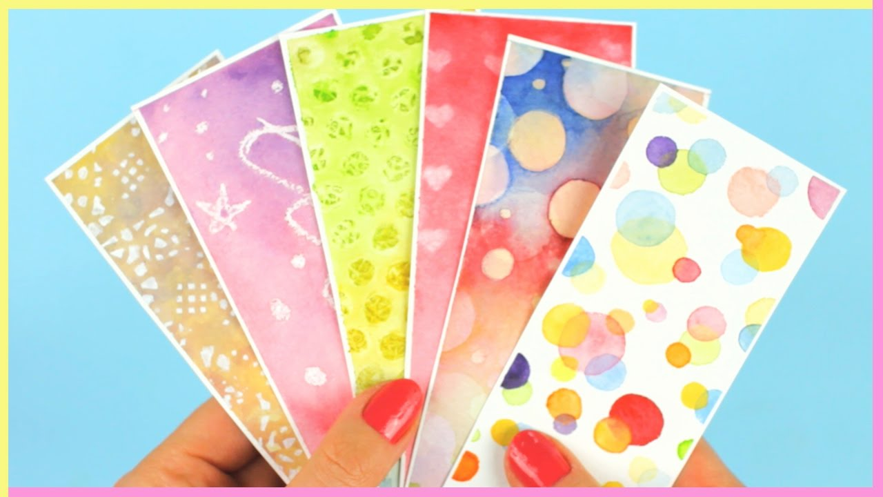 Watercolor bookmarks - Diy Bookmarks Watercolor Techniques For Beginners Part 2 Watercolor Diy How To Make Bookmarks