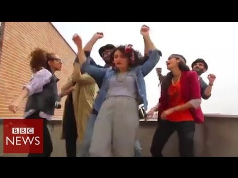 'Happy' Iranians arrested over tribute video - BBC News