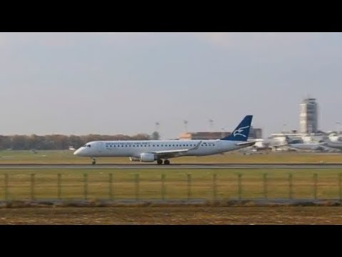 Montenegro Airlines Embraer E190 Short Takeoff from Charlie at Belgrade Airport BEG/LYBE