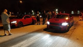 Street Racing Audi TTS vs Charger SRT Hellcat G35 Civic Mustang 5.0 RSX Type S 2v Mustang