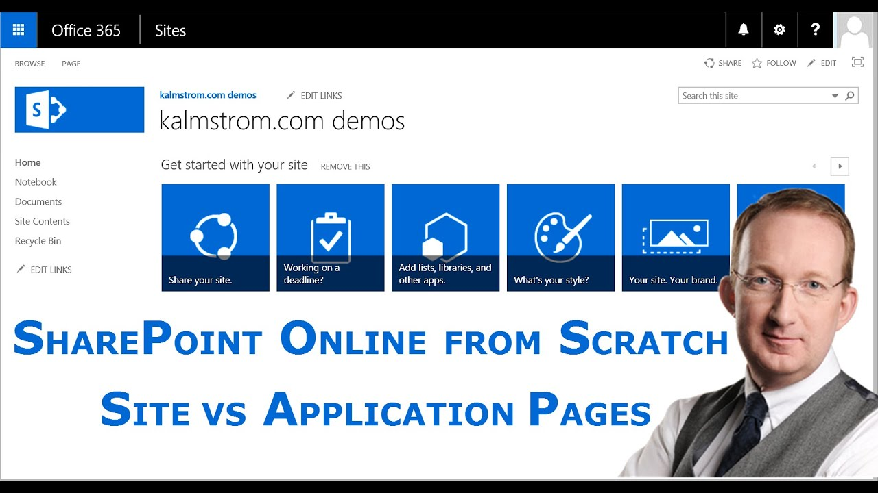 SharePoint Online Site Pages And Application Pages