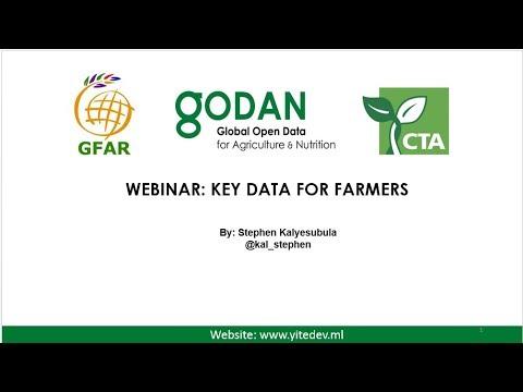 "GFAR/GODAN/CTA webinar ""Key data for farmers"""