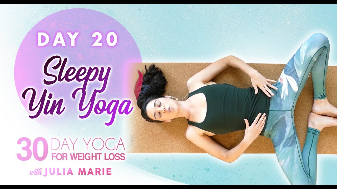 Yin Yoga for Deep Sleep ♥ Relaxation, Pain Relief, Stretch, 30 Mins | 30 Day Yoga Julia Marie Day 20