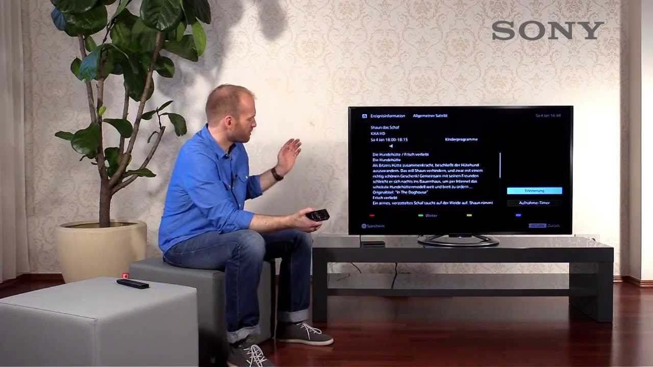 sony bravia tv 7 usb recording aufnehmen mit dem tv youtube. Black Bedroom Furniture Sets. Home Design Ideas