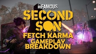 inFAMOUS: Second Son Fetch Karma Decision Gameplay Breakdown- Neon Sword and Changing Power Colors!