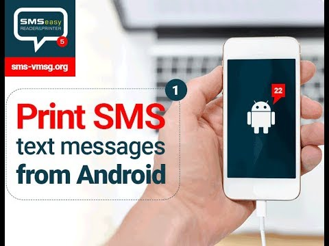 How To Print SMS From Android Smartphone With SMS EasyReader&Printer? 📱