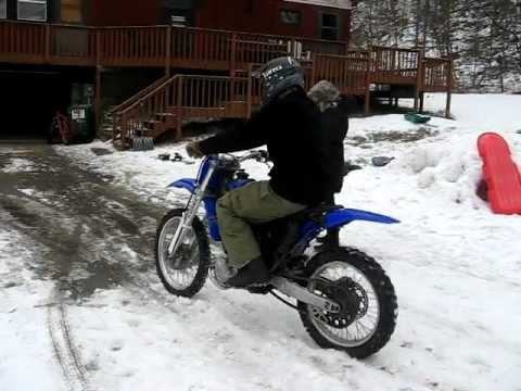 Electric Dirt Bike In The Snow Youtube
