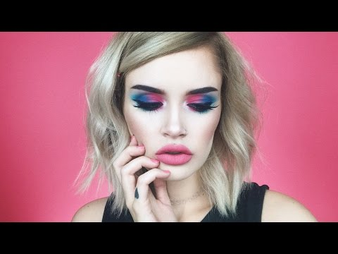 GET READY WITH ME! | Pink to Blue Eyeshadow | atleeeey