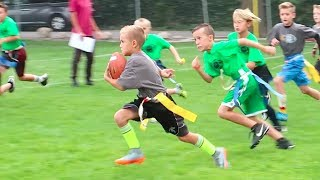 Download KID SCORES TOUCHDOWN AT FLAG FOOTBALL GAME! 🏈