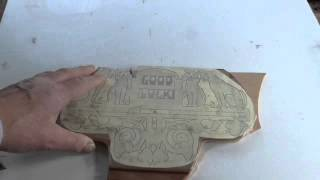 Cutting a pattern on Hegner scroll saw part 1.