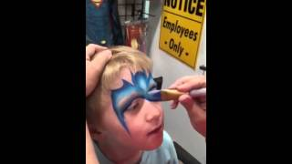 Super Fast Batman Face Painting Tutorial