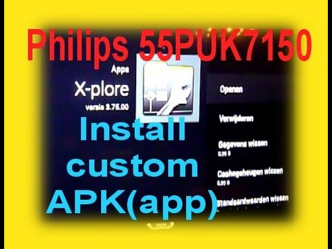 Philips 55PUK7150 TV - install APK (google play) - Unknown sources = Not impossible !!