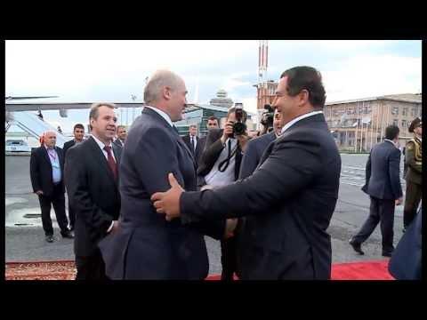 PRESIDENT OF THE REPUBLIC OF BELARUS ALEXANDER LUKASHENKO HAS ARRIVED IN ARMENIA
