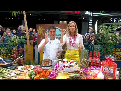 Chef Roy Yamaguchi prepares Hawaiian recipes