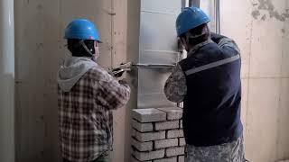 duct construction 화장실 덕트배기 입상.…