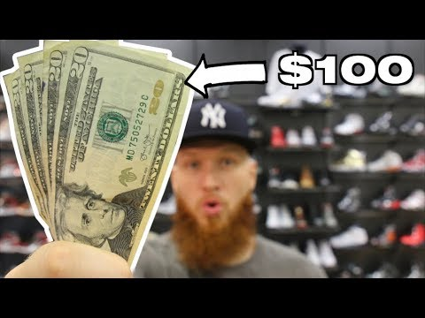 WHAT CAN $100 BUY YOU AT A SNEAKER RESELLER STORE?!