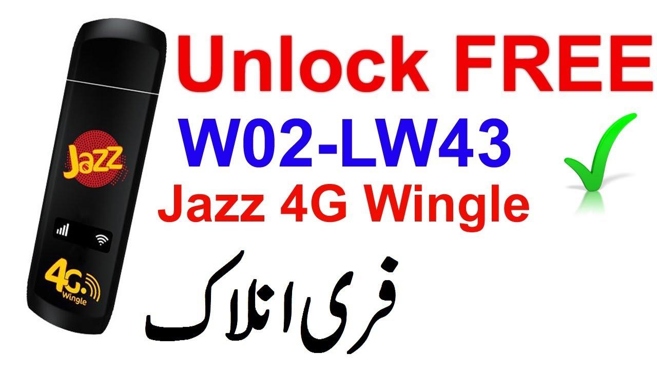 Jazz 4G Wingle Unlock FREE | Jazz 4G black Wingle W02-LW43 Unlock 1000%