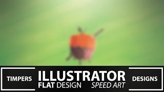Illustrator Apple Flat Design Speed Art