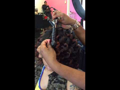 How to use The VERGE SPIRAL WAND on NATURAL HAIR