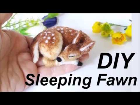 DIY NEEDLE FELT SLEEPING FAWN TUTORIAL KIT THE WISHING SHED