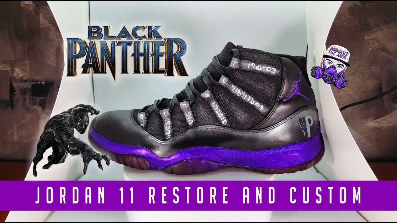 Black Panther Jordan 11 customs - YouTube