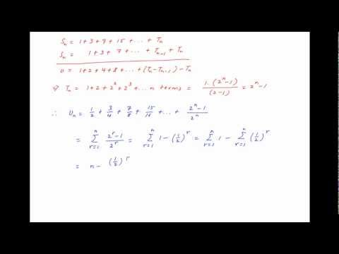 Find The Sum To N Terms 1/2 + 3/4 + 7/8 + 15/16 + ...