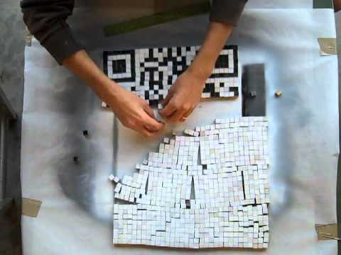 Making a QR Code With Physical Pixels