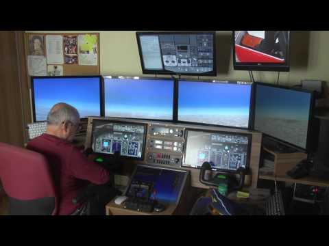 Vuelo sevilla-malaga cabina casera del boing 737 flight simulator