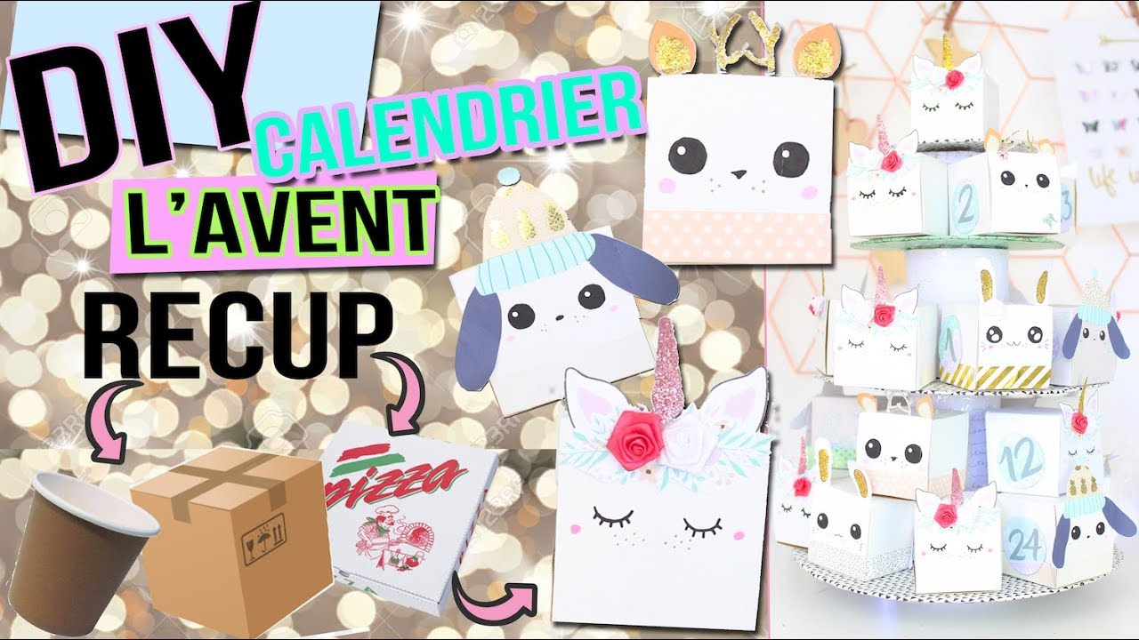 diy no l calendrier de l 39 avent a 0 recyclage deco kawaii advent calendar christmas. Black Bedroom Furniture Sets. Home Design Ideas