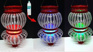 Lantern/Tealight Holder made from waste Plastic Bottle|Best out of waste-Christmas decoration ideas