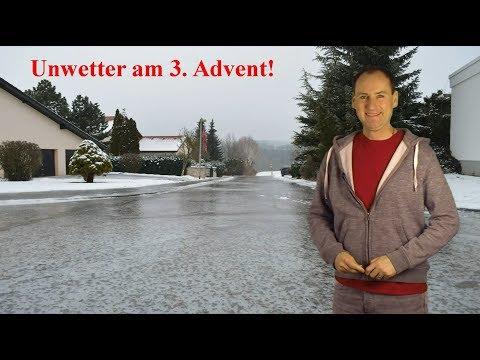 Unwetter am 3. Advent: Der Sonntag bringt Glatteis und Schneefall! (Mod.: Dominik Jung)