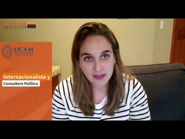 Daniela Franco palabras sobre el Máster en Marketing Político, Gobernanza y Comunicación Estratégica
