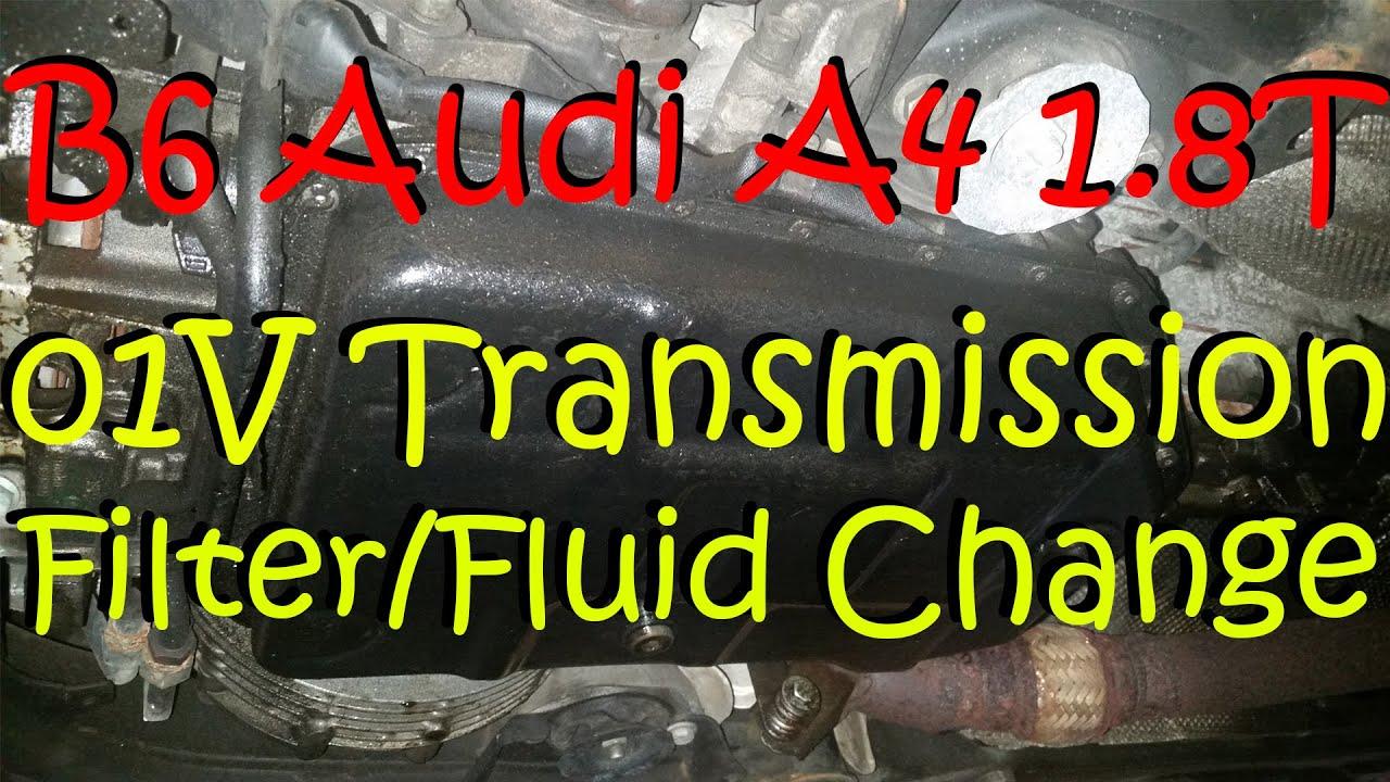 B6 Audi A4 18T Automatic Transmission FilterFluid Change