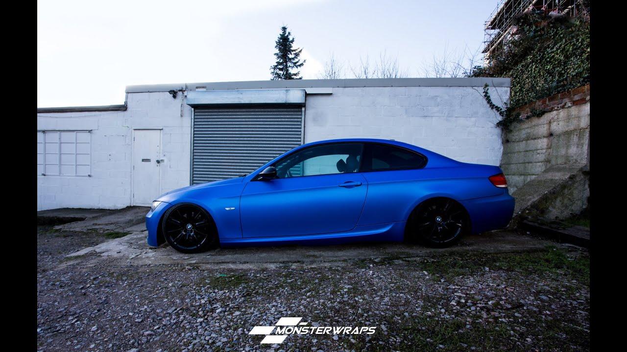 Monsterwraps Bmw 3 Series E90 Satin Perfect Blue Full
