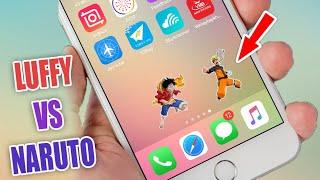 Luffy Vs Naruto Danh Nhau Tren Man Hinh Iphone