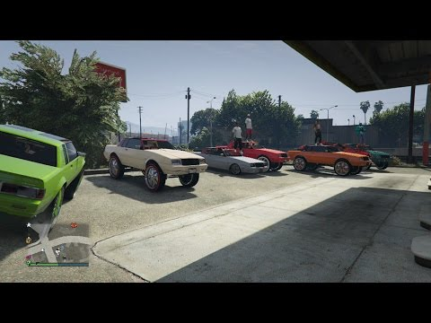 GTA 5 Online: Benny's Willard Faction Donks and Low Riders Car meet 🚗