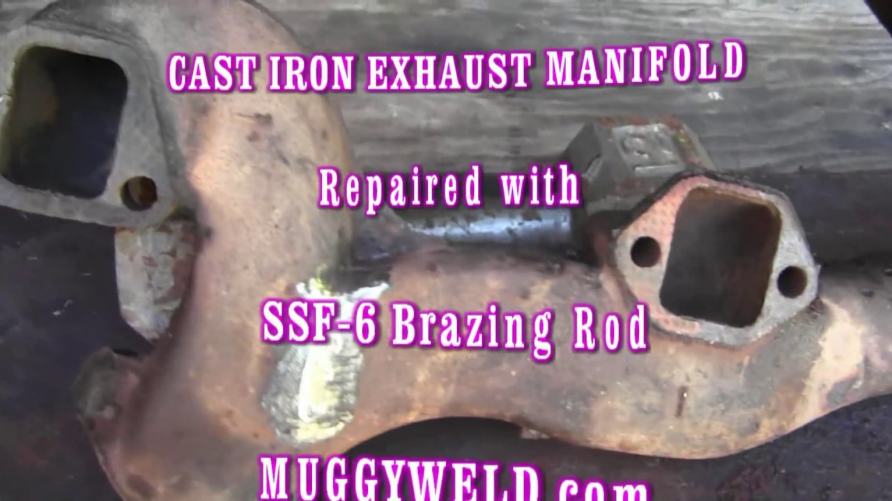 Cast Iron Exhaust Manifold Crack and Hole Torch Brazed with Ease
