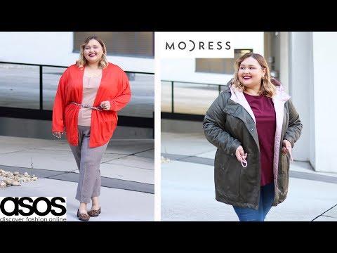 Осенние образы Plus Size на работу или учебу || Одежда из MODRESS, ASOS