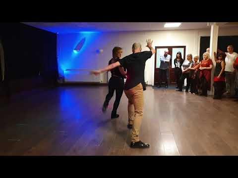 Lee & Fabienne Easton - Warrington Westies workshop - Improvised West Coast Swing