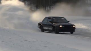 BMW E30 TURBO 300HP SUBARU WRX 500HP ICE DRIFT!