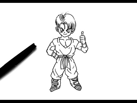 How To Draw Trunks Chibi Dragon Ball Super