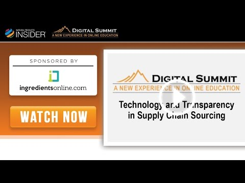 ingredientsonline.com's Digital Summit, pt. 1