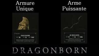 Skyrim Dragonborn - Arme / Armure unique et puissante : Arc Noir du Destin et Visage de Mzund