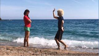 Новая Чеченская Лезгинка С Русской Девушкой на Пляже В Анталии 2018 ALISHKA В Турции