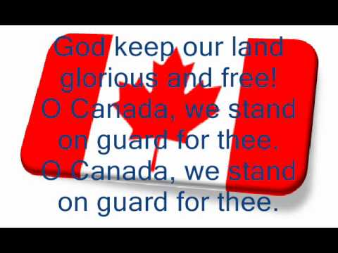 O Canada National Anthem with French version
