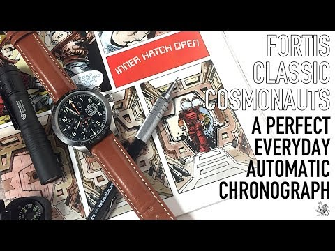 The Perfect Everyday Automatic Chronograph? - Fortis Classic Cosmonauts Ceramic PM Review