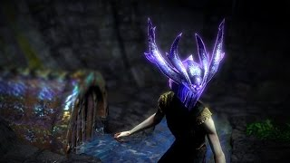 Path of Exile: Purple Necrotic Armour Helmet
