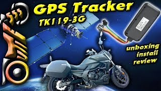 Motorcycle GPS Tracker - Unboxing, Install and Review - TK119-3G