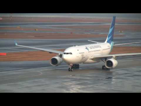 Garuda Indonesia Airbus A330-200 Landing at Nagoya