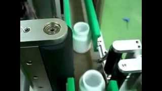 Three roller type Sticker labelling machine , Orientation Wrap-around Labeling Machine